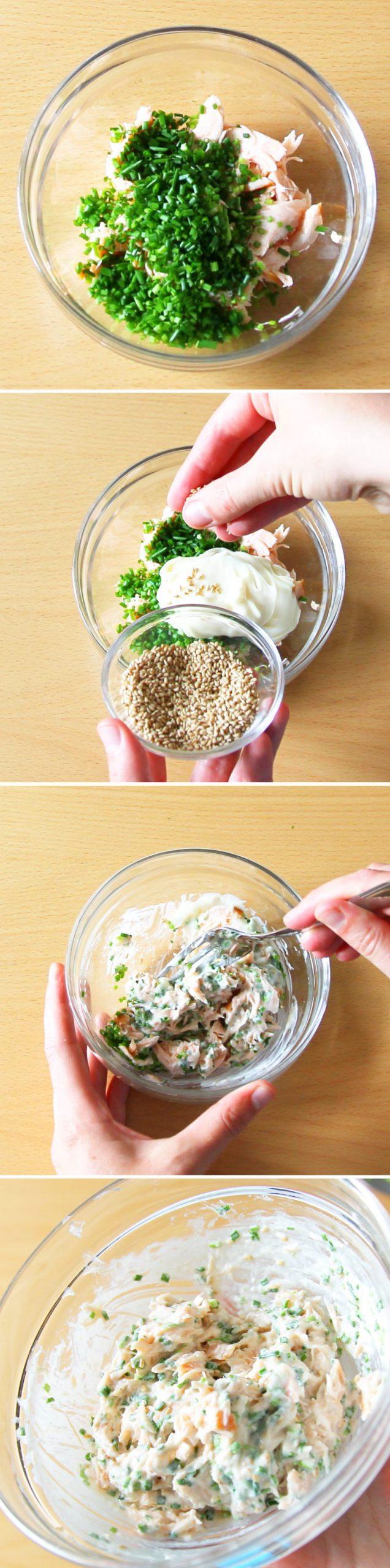 Onigiri mit Lachs Schritt 3 Füllung vorbereiten