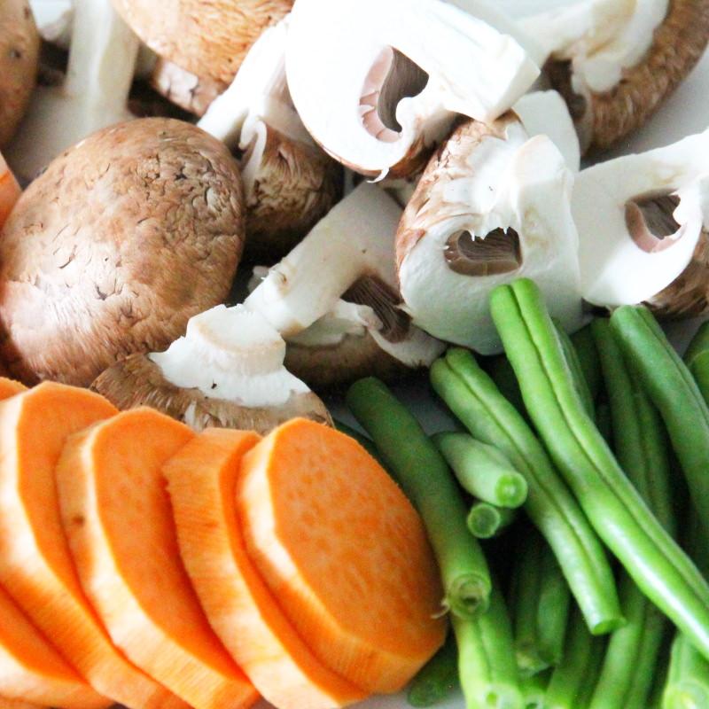 Tendon Schritt 2 Gemüse vorbereiten