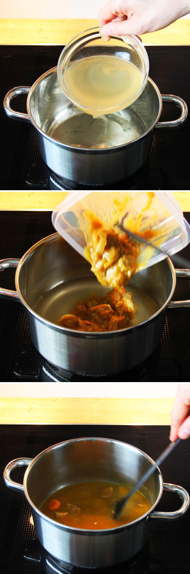 Kare Udon Schritt 3 Currysuppe zubereiten