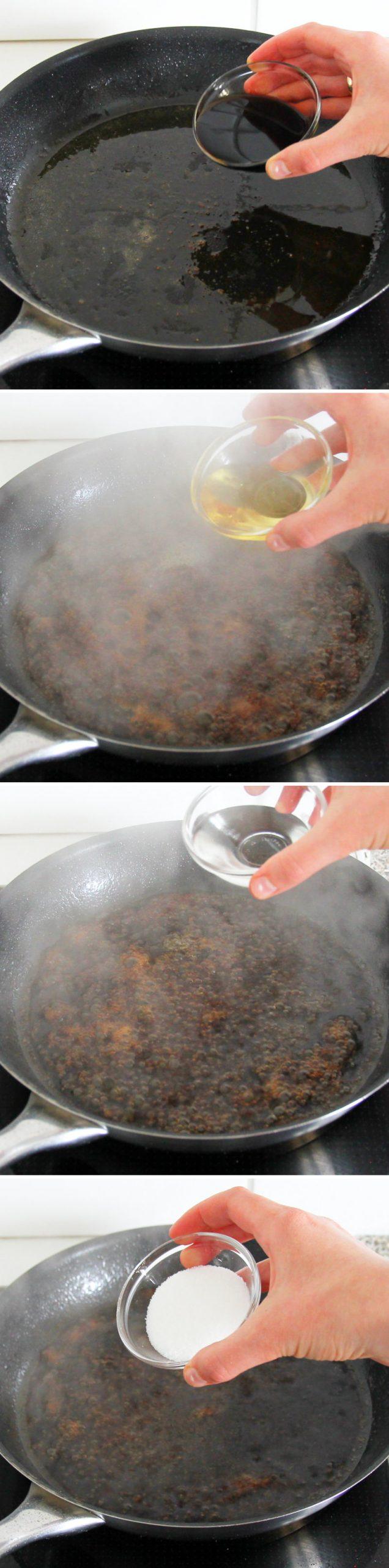 Teriyaki Chicken Wings Schritt 4 Sauce zubereiten