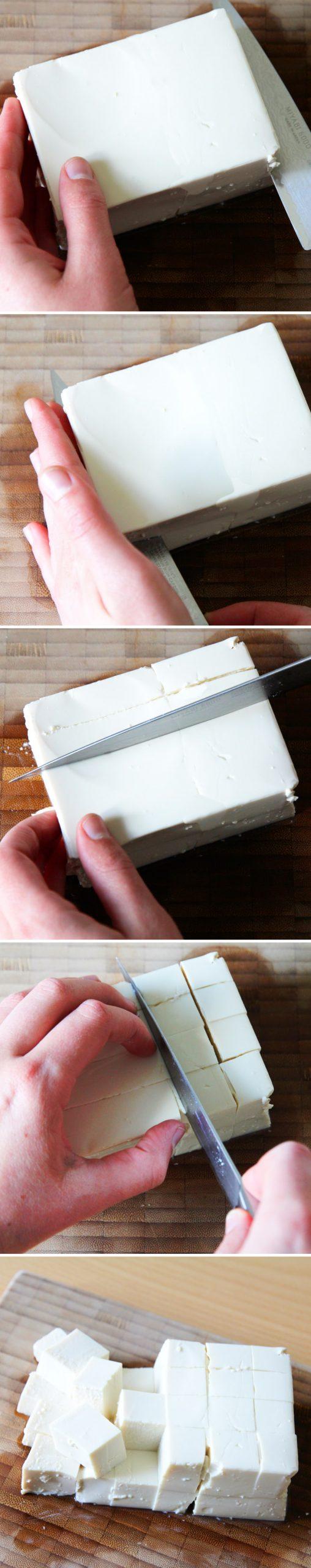 Tofu richtig schneiden