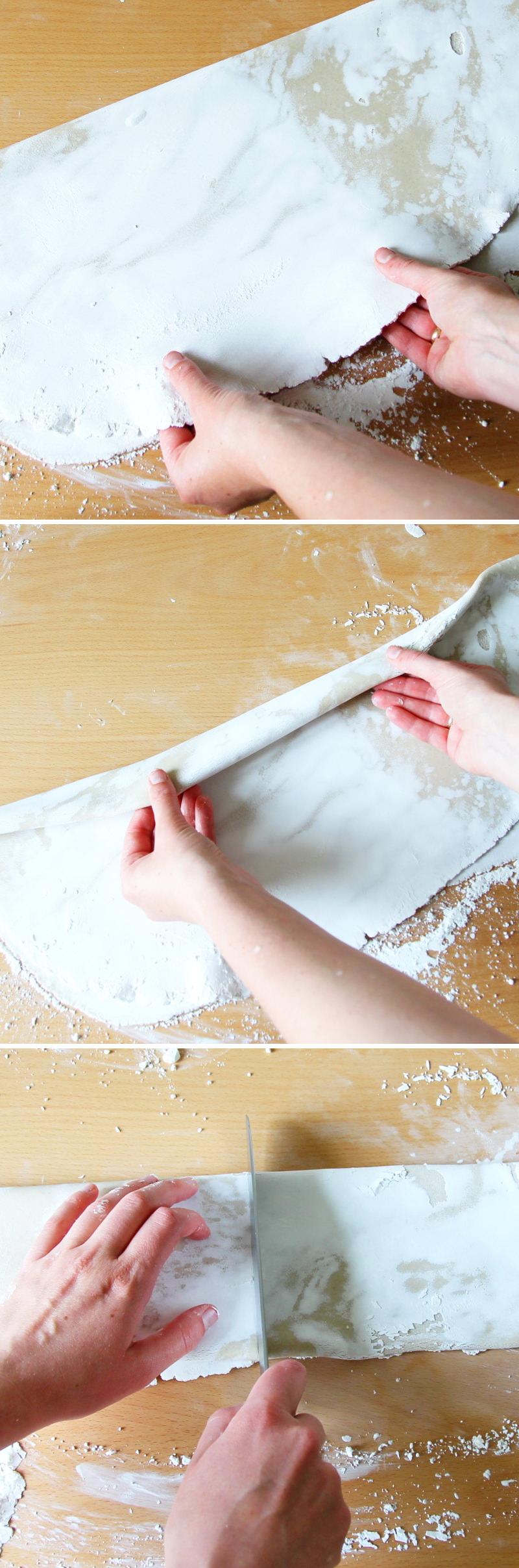 Soba Nudeln selbst machen Schritt 7 Teig falten