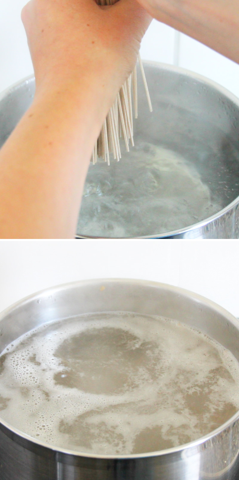 Zaru Soba Schritt 6 Soba kochen