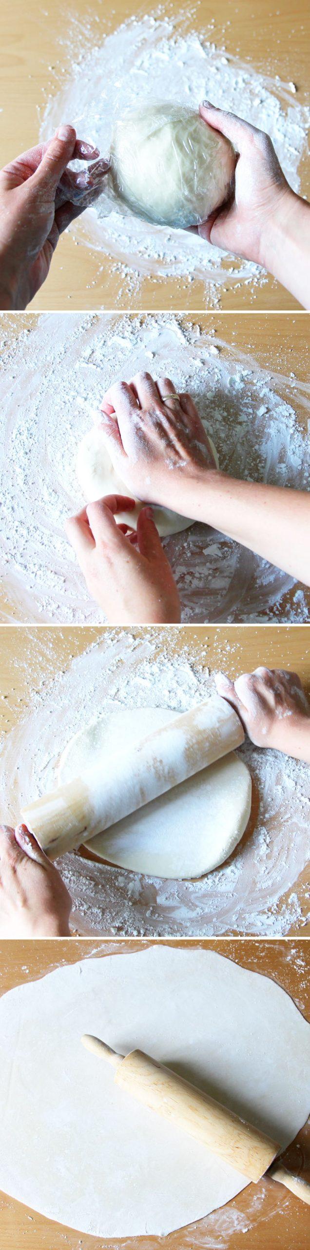 Gyoza Blätter Schritt 7 Teig ausrollen