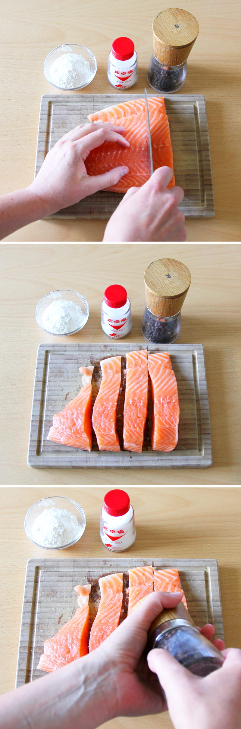 Teriyaki Lachs Schritt 3 Fisch vorbereiten