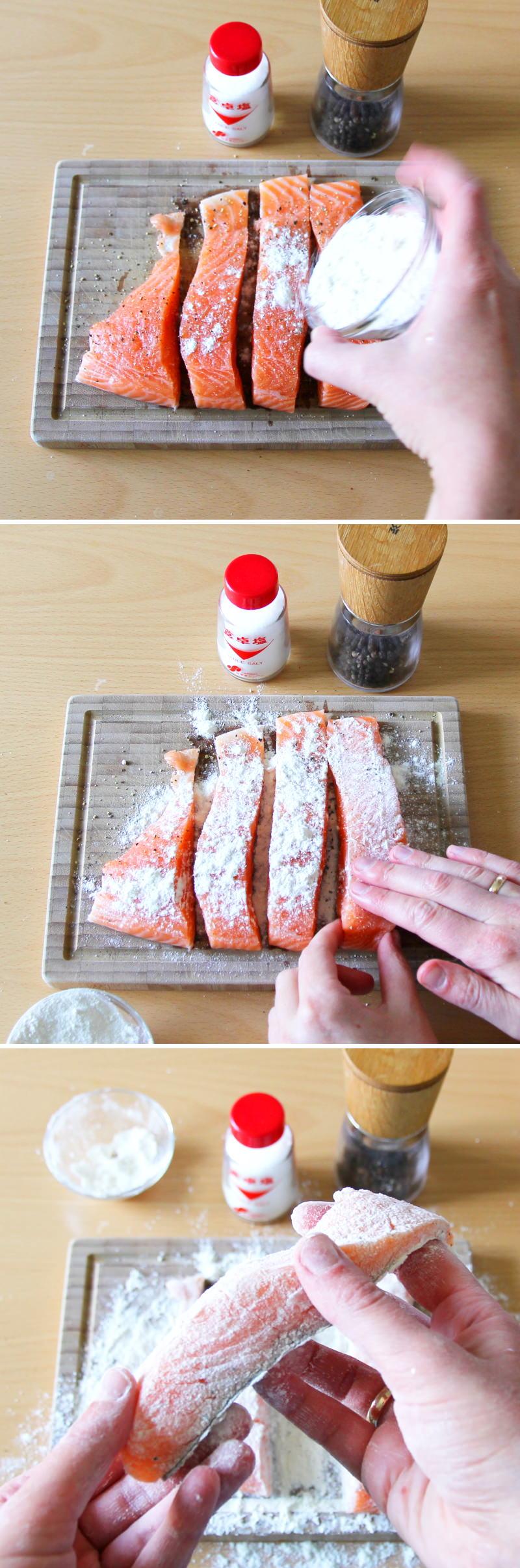 Teriyaki Lachs Schritt 4 Fisch vorbereiten