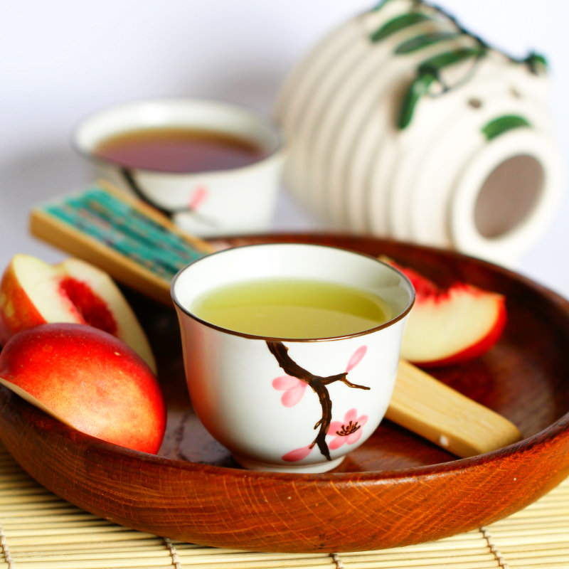 Japanischer Tee als Nahaufnahme