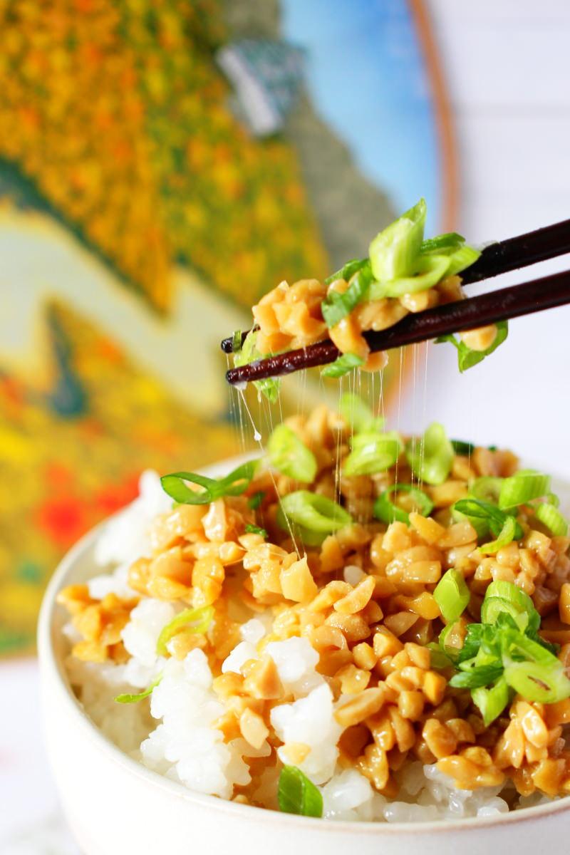 Natto mit Fäden