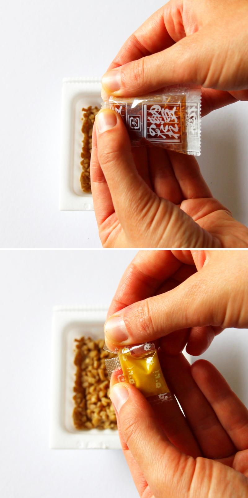 Natto würzen