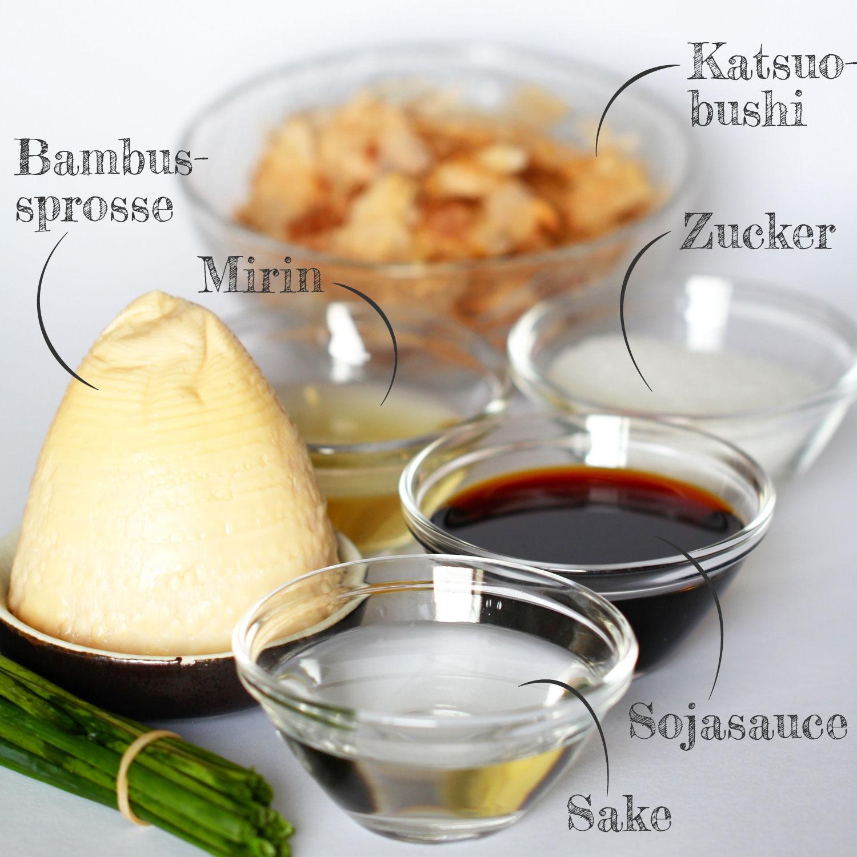 Takenoko no Tosani Rezeptbild Zutaten