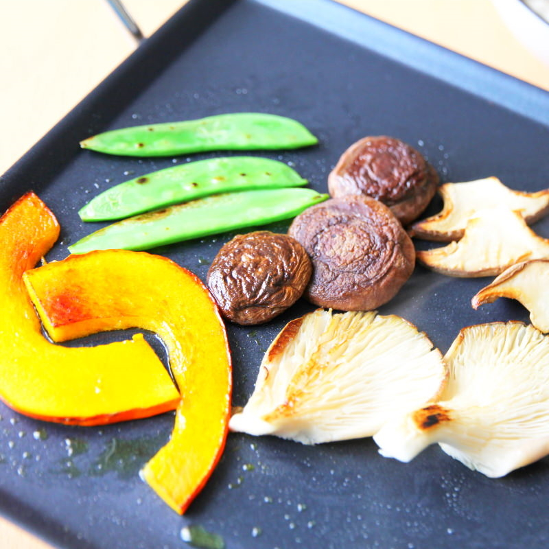 Gebratenes Gemüse vom Teppan birgt sehr schöne Geschmackstiefen.