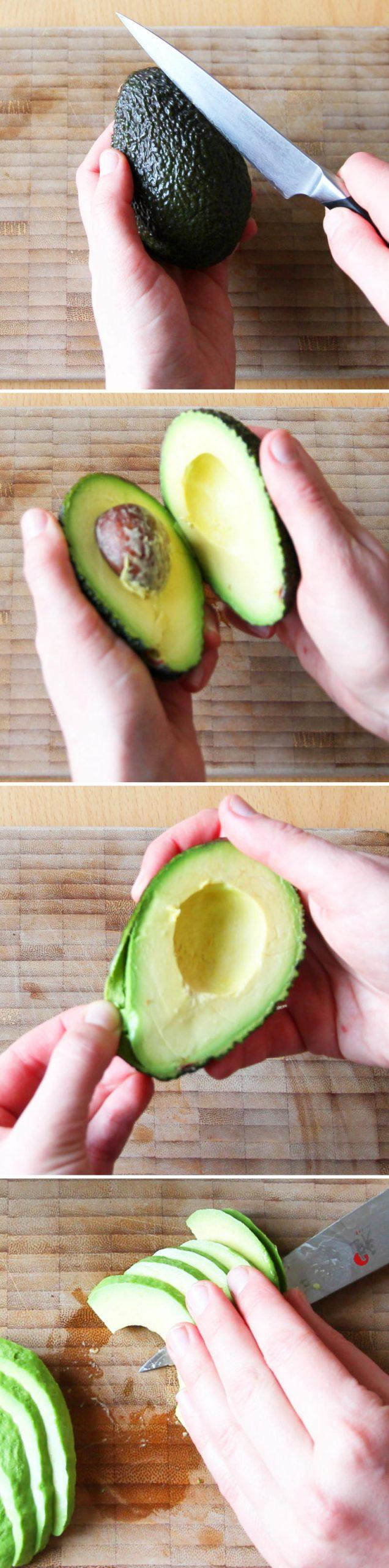 Futomaki Schritt 6 Avocado vorbereiten