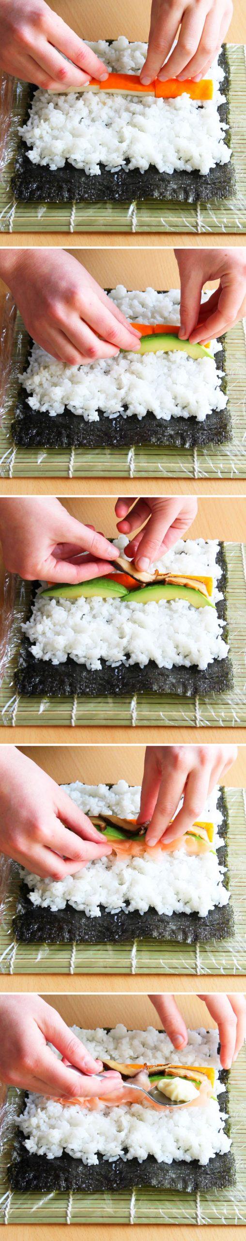 Futomaki Schritt 8 Sushi-Rolle formen