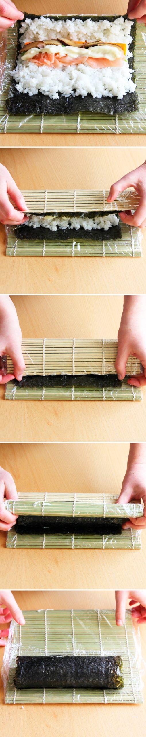 Futomaki Schritt 9 Sushi-Rolle formen