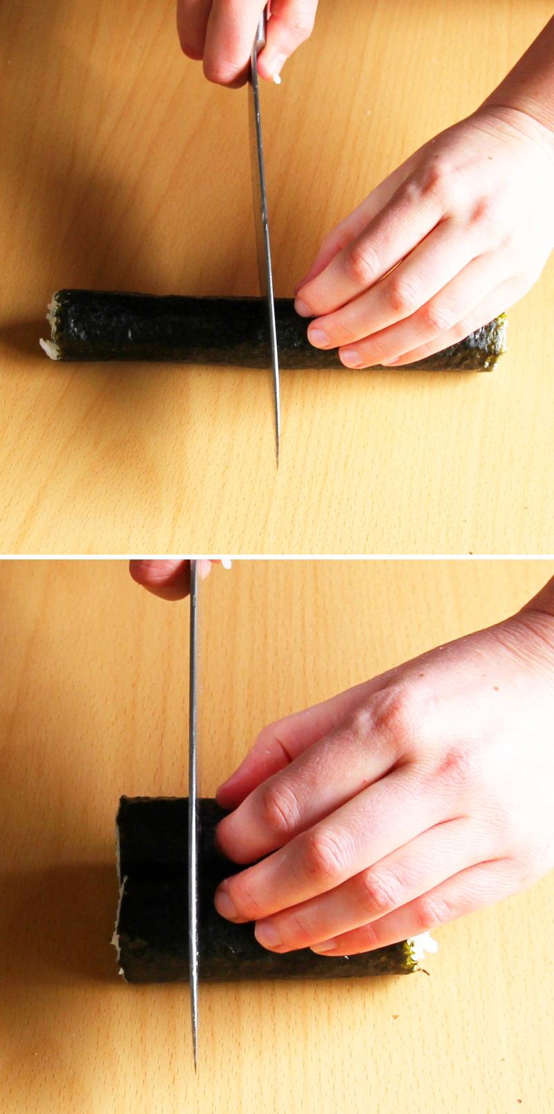 Hosomaki Schritt 11 Sushi schneiden