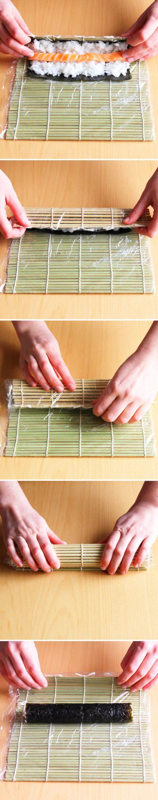 Hosomaki Schritt 8 Sushi-Rolle formen