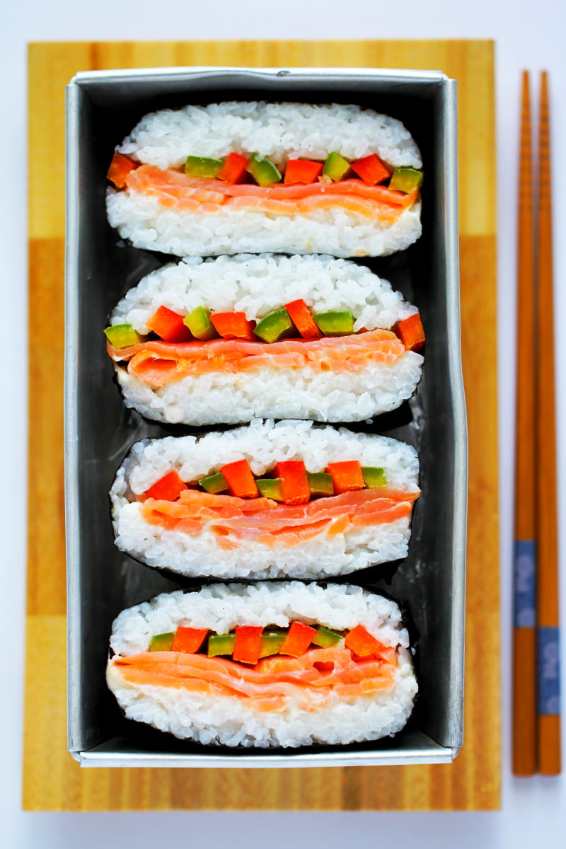 Onigirazu Sushi Sandwich Rezeptbild
