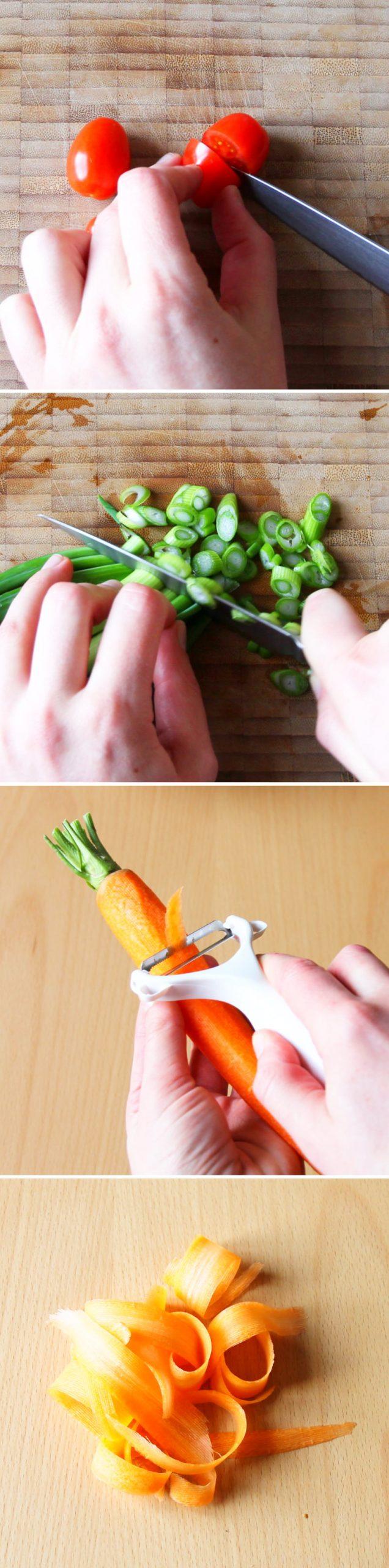 Sushi Bowl Schritt 2 Gemüse vorbereiten