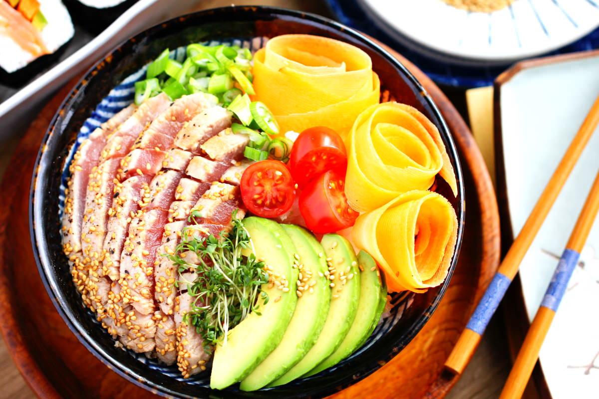 Sushi Bowl Nahaufnahme