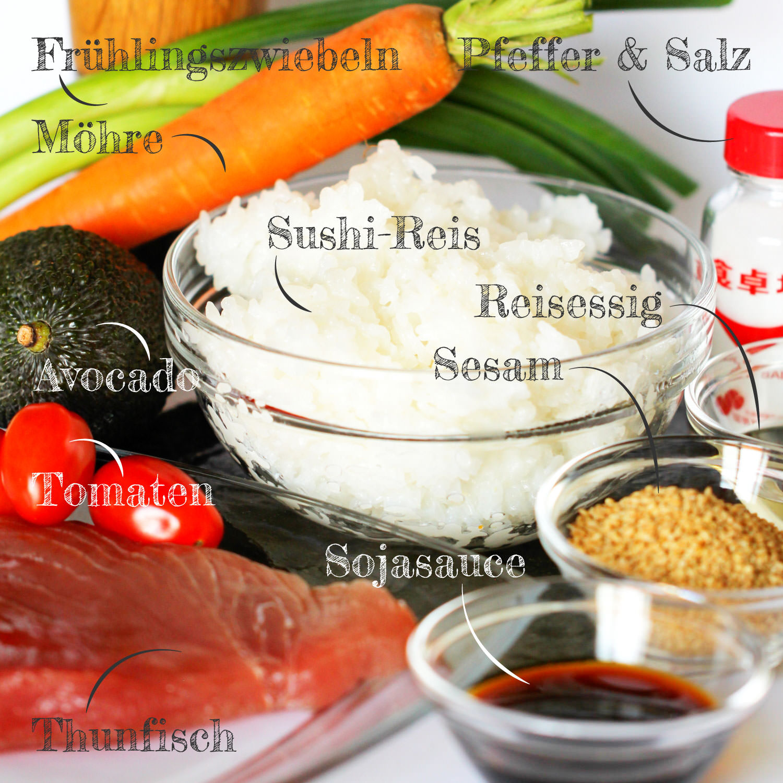 Sushi Bowl Zutaten