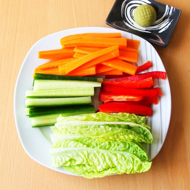 Temaki Schritt 4 Gemüse vorbereiten