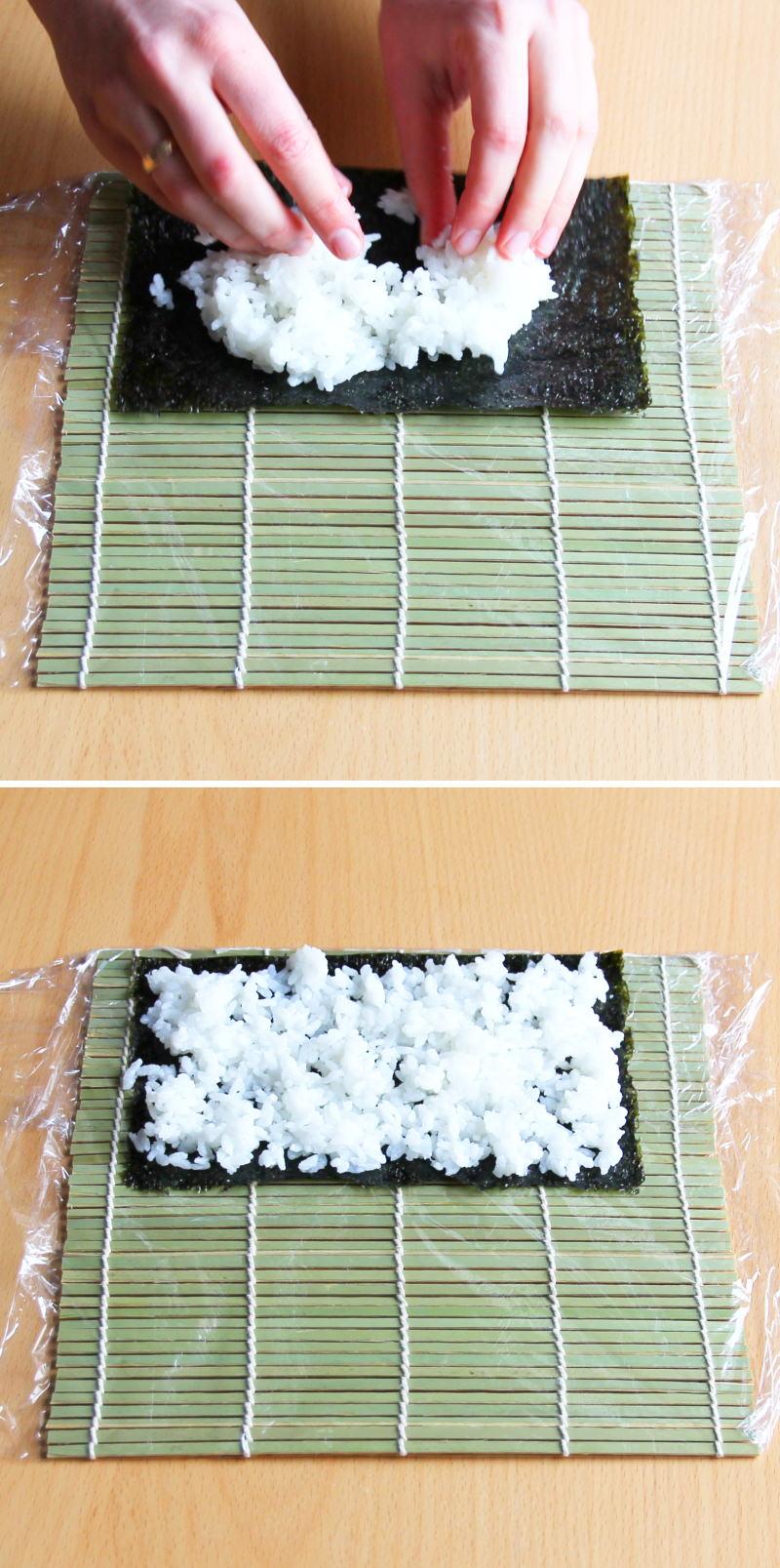 Uramaki Schritt 5 Sushi-Rolle formen