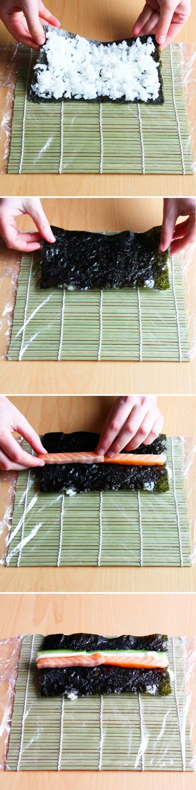 Uramaki Schritt 6 Sushi-Rolle formen