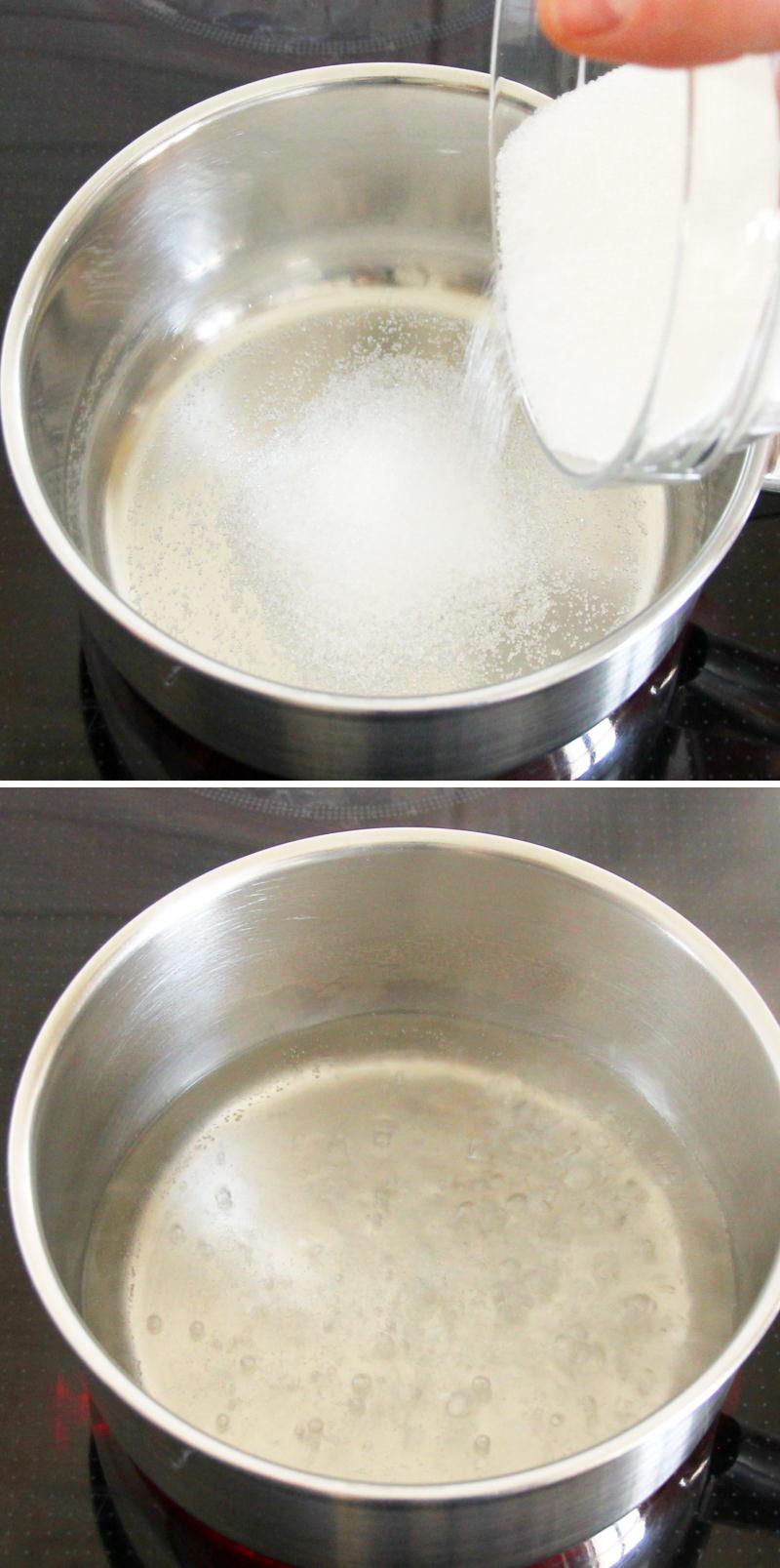 Whiskey Sour Schritt 2 Zuckersirup herstellen