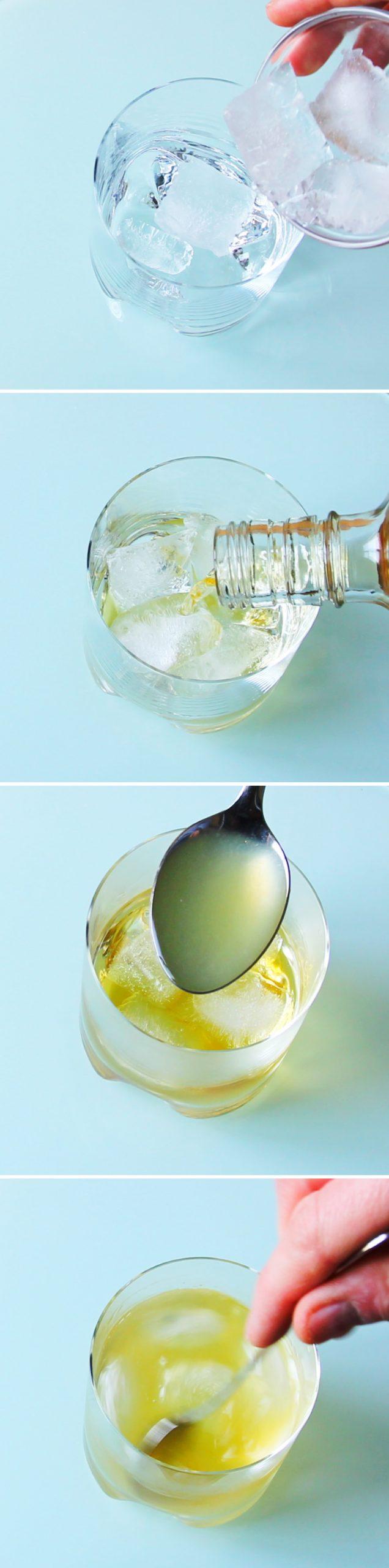Whiskey Sour Schritt 4 Cocktail mixen
