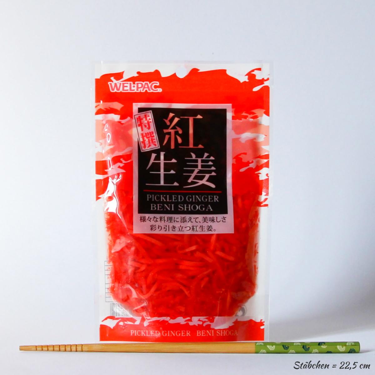 Beni Shoga 180g (eingelegter roter Ingwer), WEL-PAC