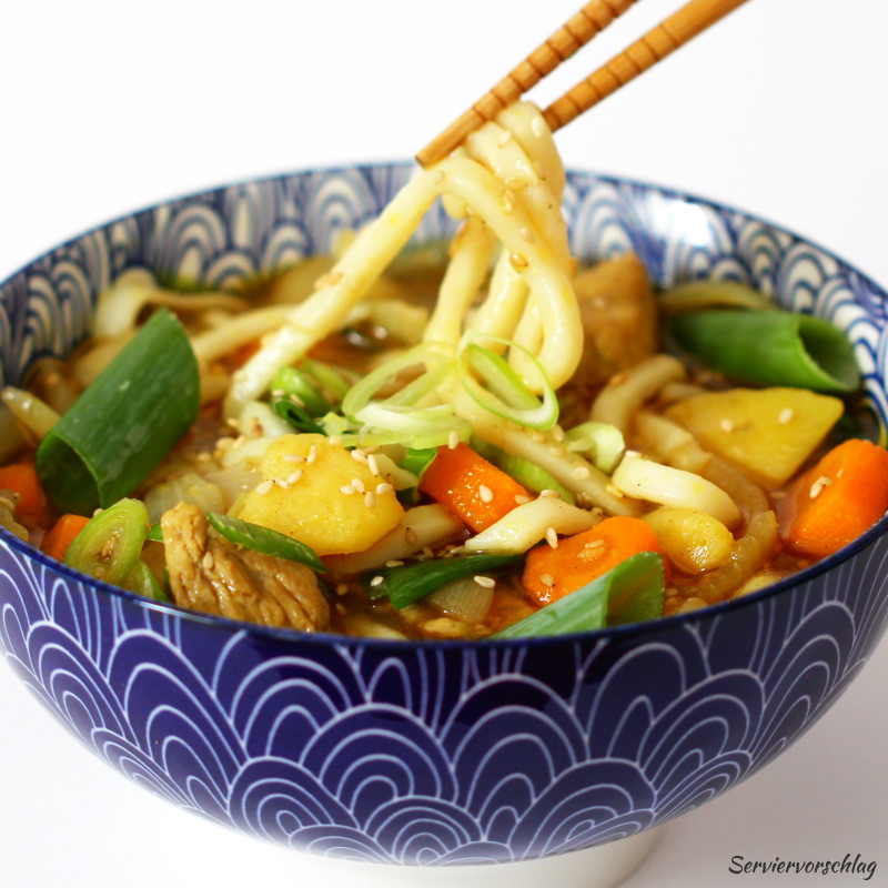 Serviervorschlag Curry Udon