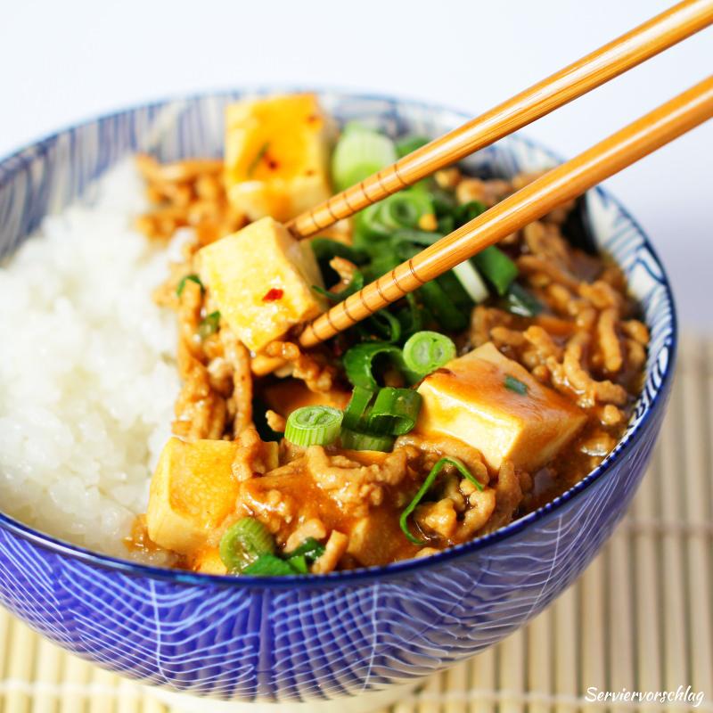 Serviervorschlag Mapo Tofu