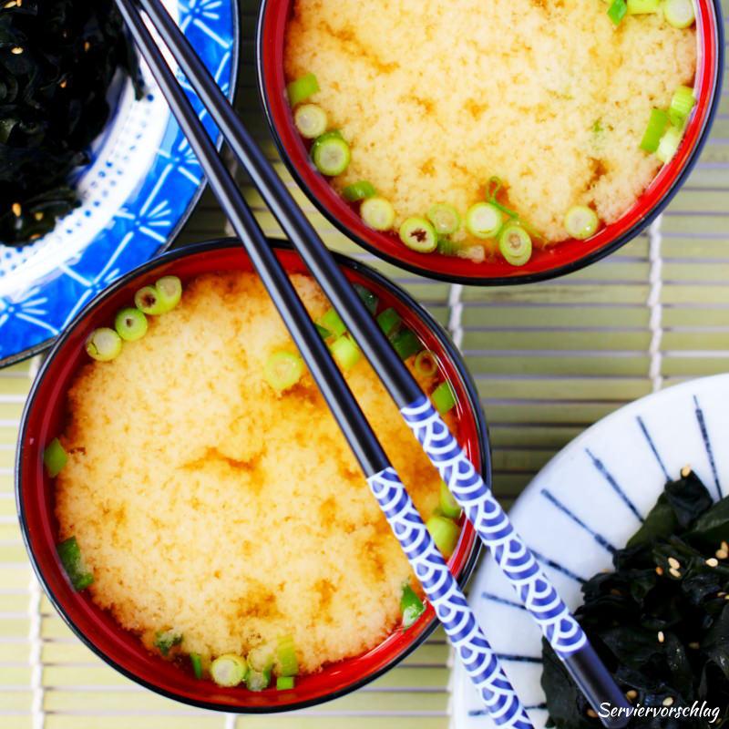 Serviervorschlag Miso-Suppe