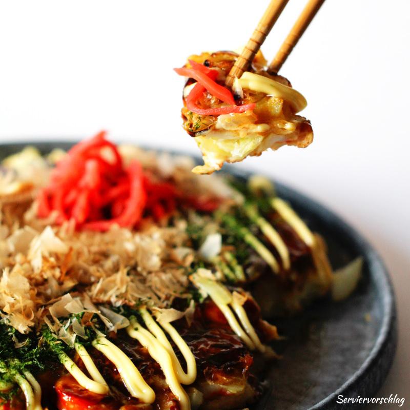 Serviervorschlag Okonomiyaki