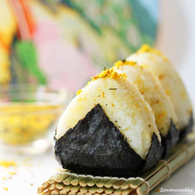 Serviervorschlag Onigiri mit Furikake