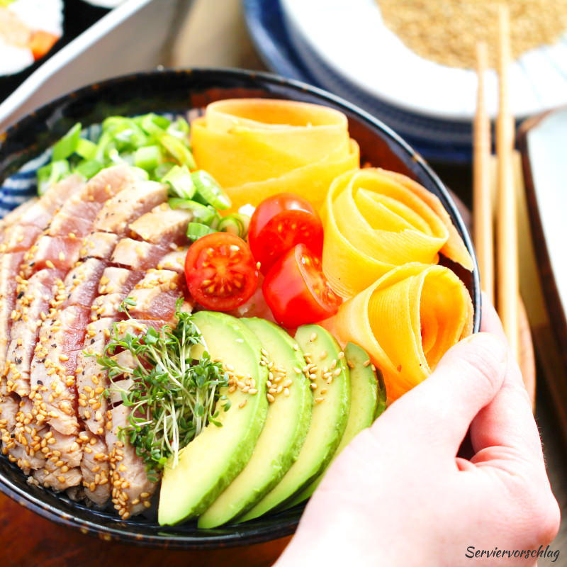 Serviervorschlag Sushi Bowl