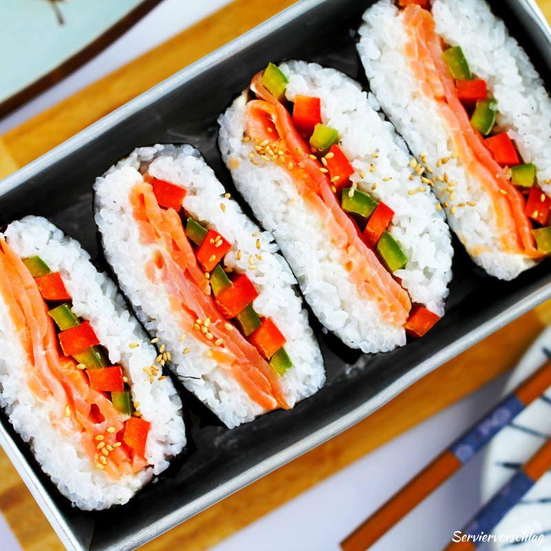 Serviervorschlag Sushi Sandwich