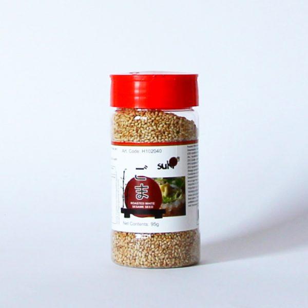 Sesam 95g (geröstete, weiße Sesamsamen), SUKI