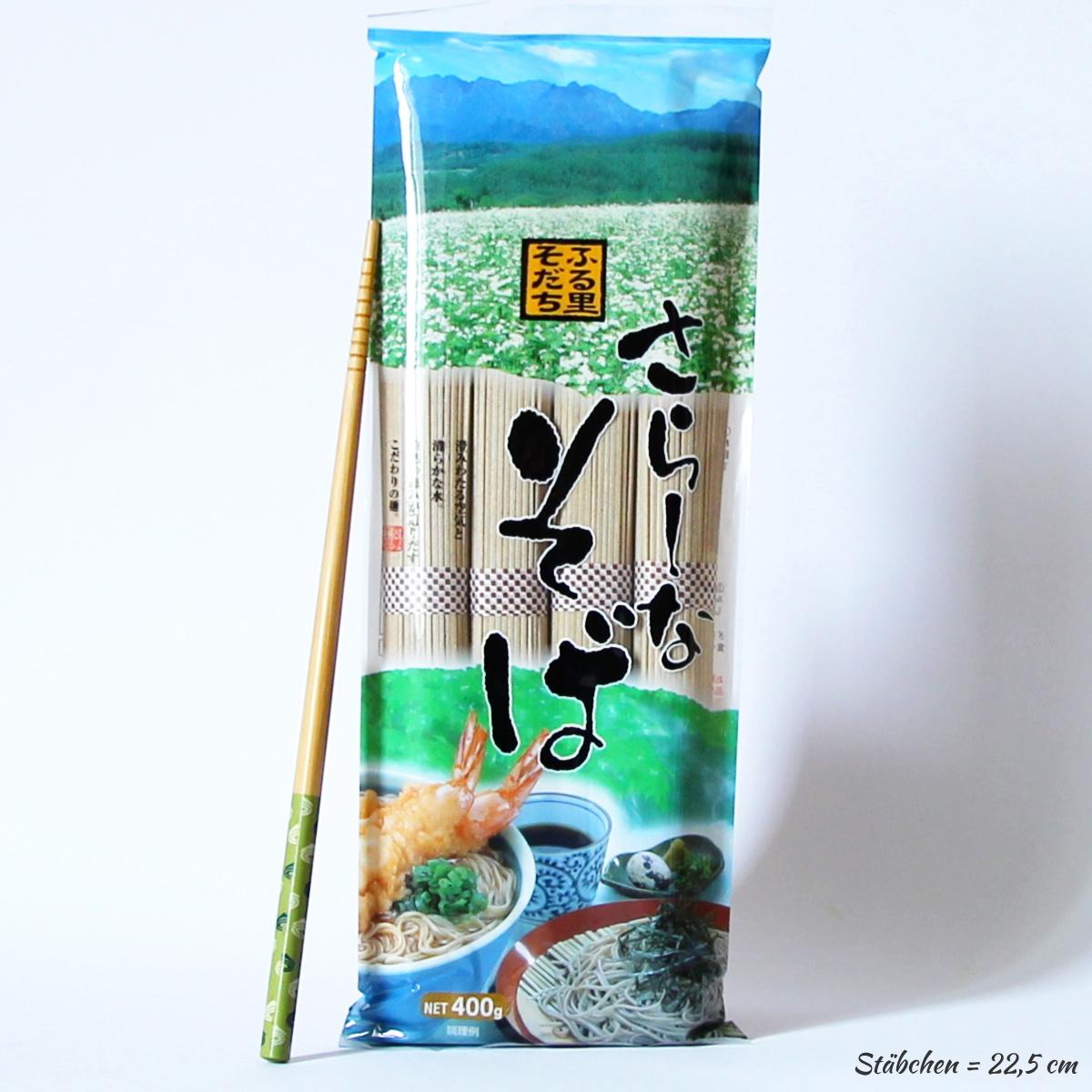 Soba Nudeln 400g (4 Portionen getrocknete Shin-Soba), FURUSATOSODACHI