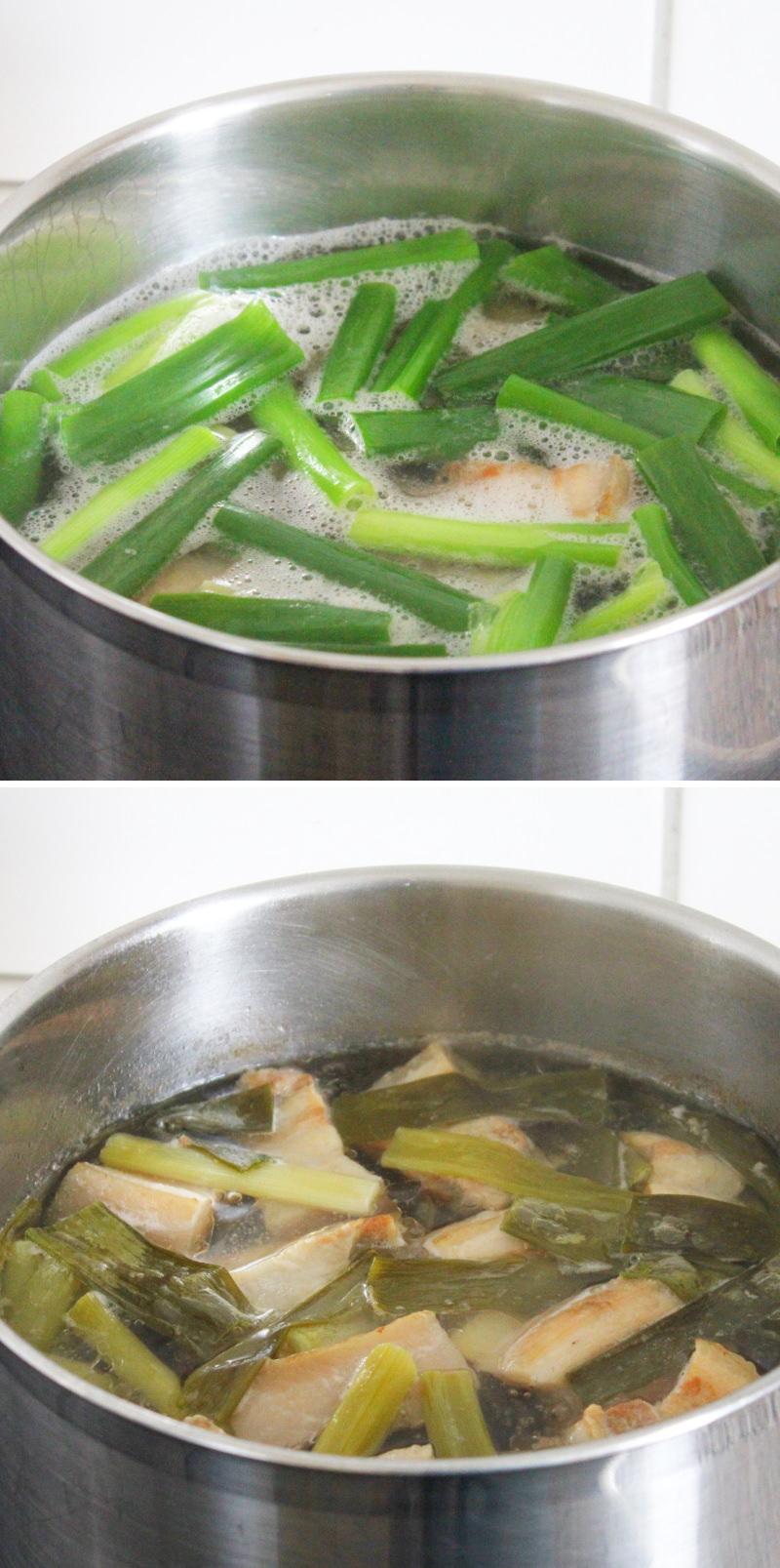 Kakuni Schritt 7 Schweinebauch kochen