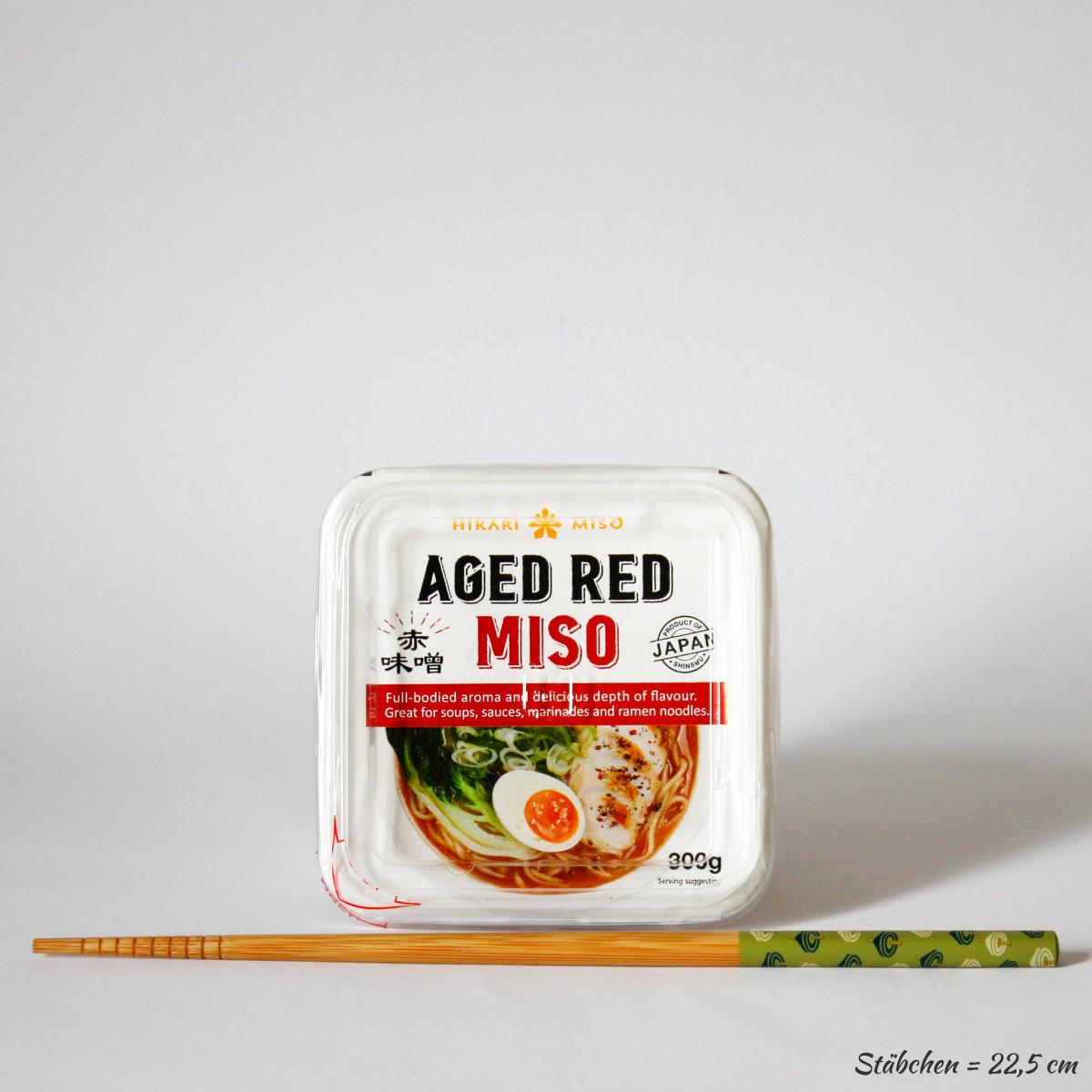Miso Paste Aged Red 300g (gereifte, rote Würzpaste aus Sojabohnen), HIKARI