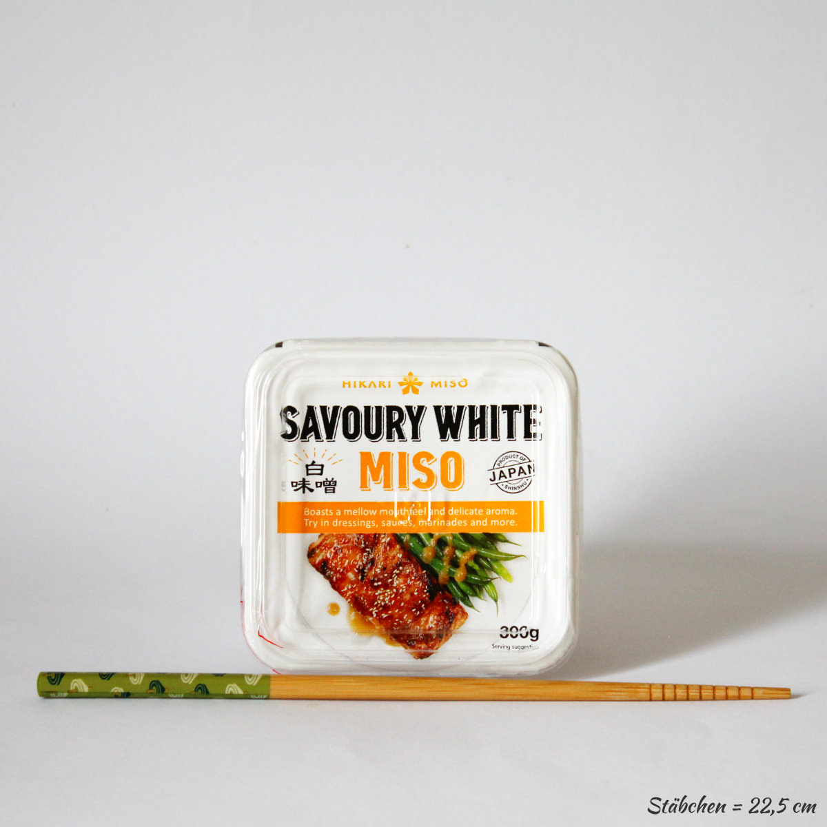 Miso Paste Savoury White 300g (pikante, weiße Würzpaste aus Sojabohnen), HIKARI