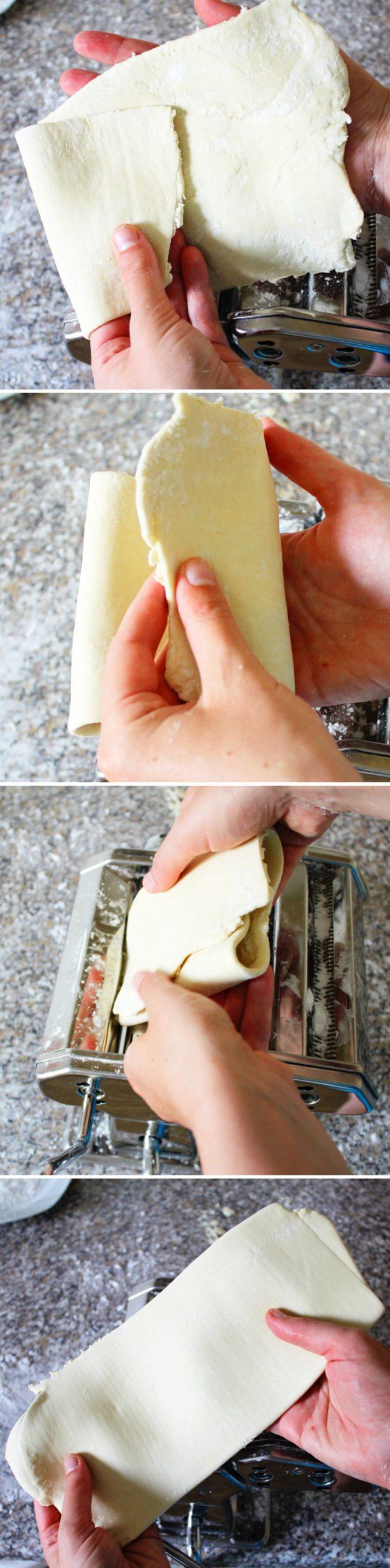 Ramen Nudeln selber machen Schritt 10 Teig ausrollen