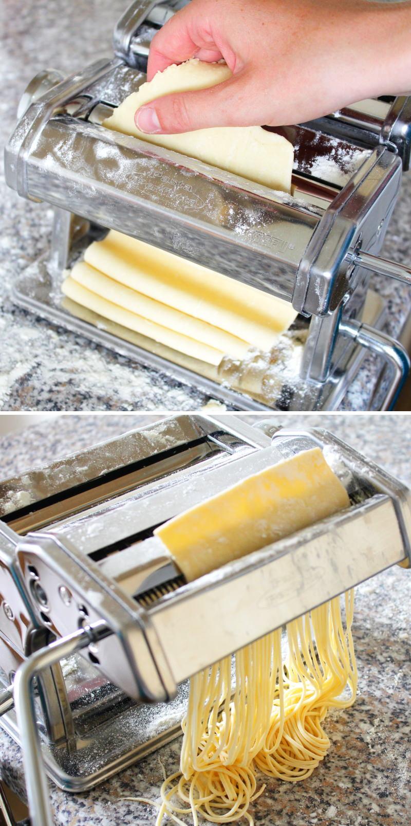Ramen Nudeln selber machen mit Ei Nudelmaschine