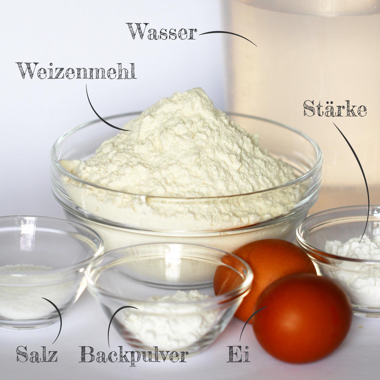 Ramen Nudeln selber machen mit Ei Zutaten